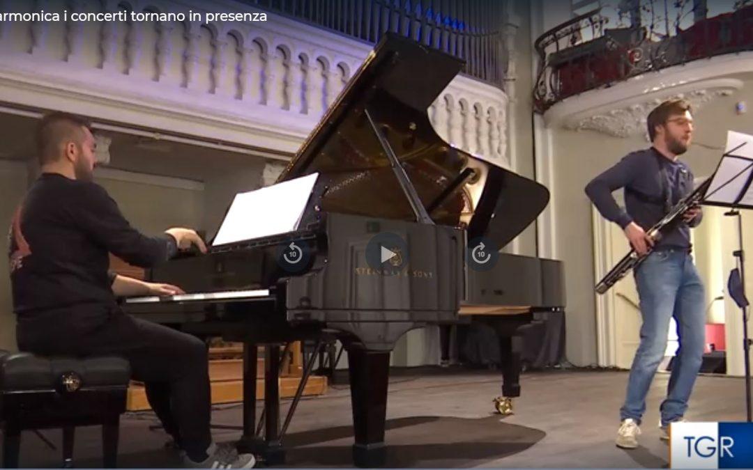 """RAI 3 """"Alla Filarmonica tornano i concerti in presenza"""""""